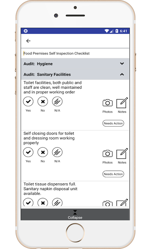 Inspection & Checklists mobile application